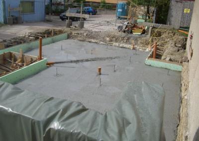 Sauberkeitsschicht unter der Bodenplatte
