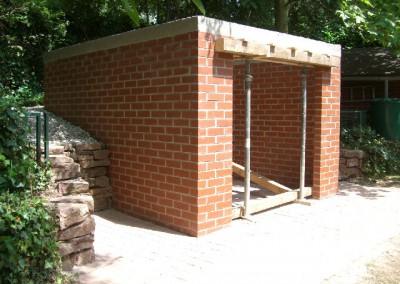 Garten.- Gerätehütte