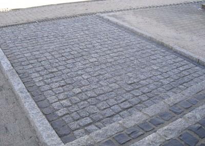 Granitpflaster im Eingangsbereich