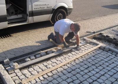 Granitpflaster - Verlegearbeiten