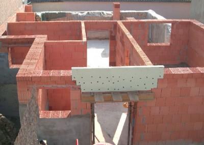 Mauerwerksarbeiten im Neubau
