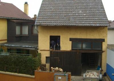 Umbau einer Scheune zum Wohnhaus.